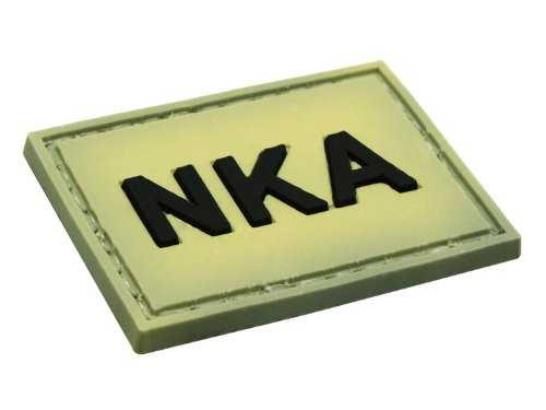 Image of BE-X 3D Rubber Patch - NKA -, with velcro, made of durable hard rubber (No Known Allergies)