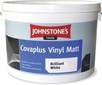 Johnstones Trade Covaplus Vinyl Matt Emulsion Brilliant White 10 Litre [Misc.] by Johnstone's trade