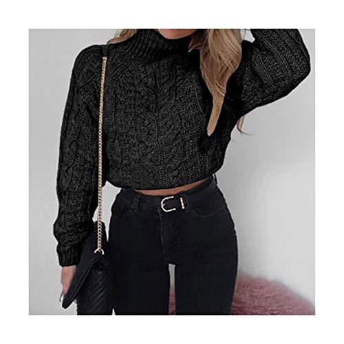 606de3a34e SIKESONG Herbst in Form gestrickter Pullover Frauen Pullover kurz Pullover  Rollkragen Crop Tops Damen Winter warme