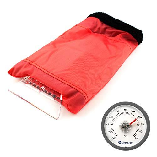 Lantelme 7545Auto Termómetro y rasqueta Guante En Juego–Requisitos de Invierno para el Coche con termómetro y–Rasqueta de Hielo
