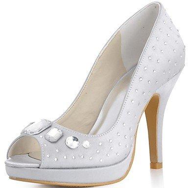 Wuyulunbi@ Donna Scarpe Matrimonio Tacchi/Peep Toe/Piattaforma Nozze Tacchi Nero/Blu/Rosa/Viola/Rosso/Avorio/Bianco/Silver/Gold/Champagne US7.5 / EU38 / UK5.5 / CN38