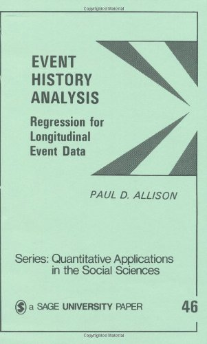 Event History Analysis: Regression for Longitudinal Event Data (Quantitative Applications in the Social Sciences)