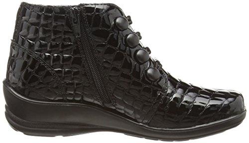 Padders - Tanya, Stivali da donna Nero (Black (Black Croc))