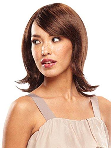 Fashion femmes perruque mi-longs bruns perruque chaleur fil support congé postiches , wig