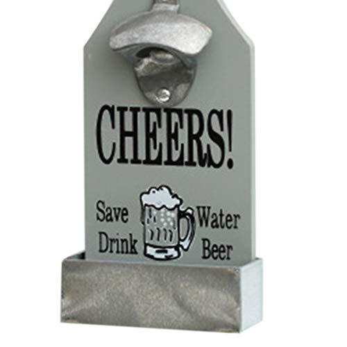 BoburyL Einzigartige Metallflaschen-Form-Wand-Haken Hängen Monte Bar Bier-Wein-Glas-Cap Flaschenöffner Küchenwerkzeug