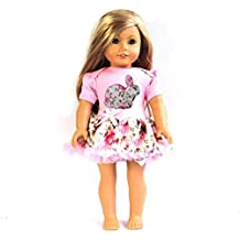 kirei Sui 45,7cm American Girl Poupée Rose clair lapin rose robe pour soirée déguisée