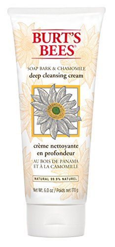 Burt Bees Bark Soap and Chamomile Deep Cleansing Facial Cream (creamy facial cleanser with soap bark and chamomile) 170g