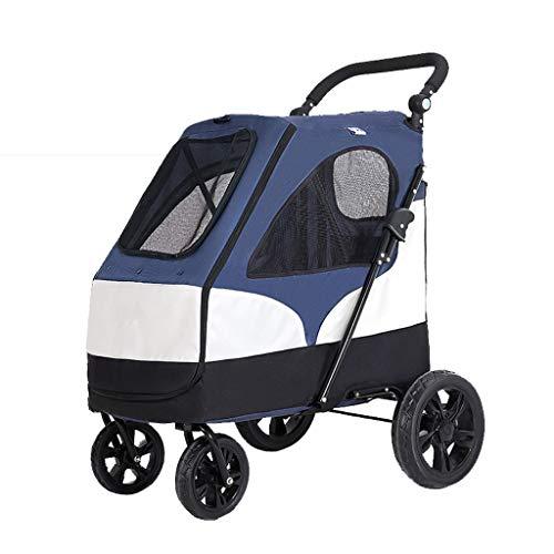 Hund Kinderwagen/Haustier Roadster/Reise Tierarzt Kinderwagen Kinderwagen/Hund Buggy Für Reisen/Haustier Tier Kinderwagen/Faltbare Wagen (Color : A)