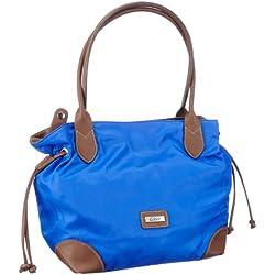 Gabor GRANADA Handtasche 6582 50 Damen Henkeltaschen 42x28x18 cm (B x H x T), Blau (blau 50)