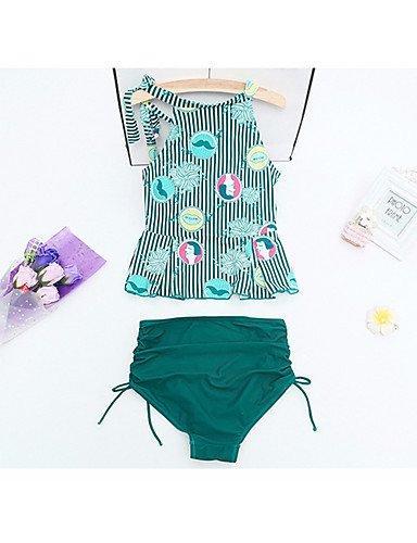 HHBO Damen Bikinis Nylon Green