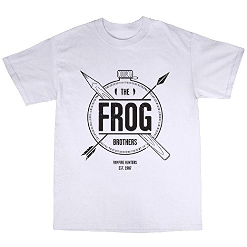 The Frog Brothers T-Shirt Baumwolle Weiß
