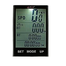 Multifunktions-Fahrrad-Computer, mit Hintergrundbeleuchtung, kabellos, mit 6,9cm (2,7 Zoll) großem LCD-Display, wasserdicht