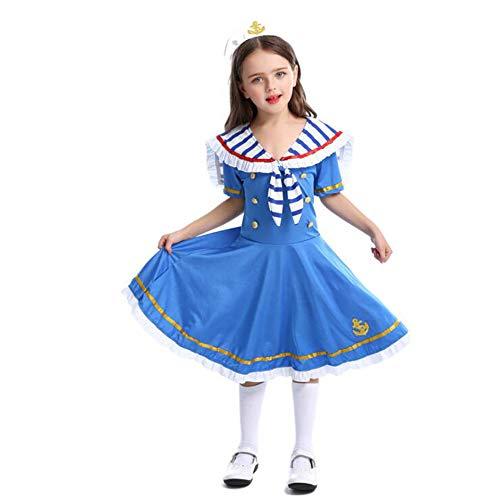 Matrosen Kostüm für Mädchen Sea Sweetie Kleid Matrosen Mädchen Kostüm Outfit mit Matrosen Hut Halloween Kostüm Kleid 3t-11t