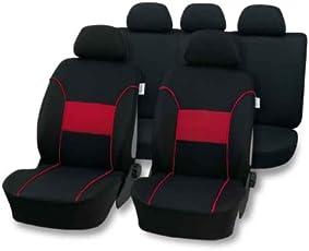 Universal Schonbezug Sitzbezug schwarz-rot, Details siehe Artikelbeschreibung