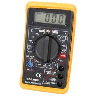 Compact Digital Multitester With Diode And Hfe Test
