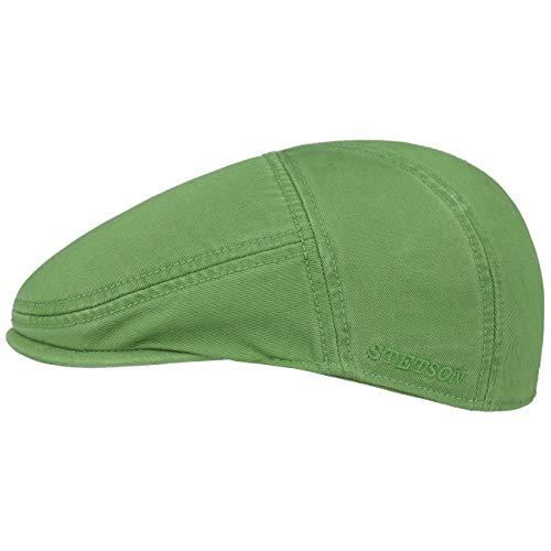 Stetson Stetson Paradise Cotton Schirmmütze grün Herren | Flatcap mit UV-Schutz 40+ | Herrenmütze aus Baumwolle | Flat Cap Größen S 54-55 cm | Schiebermütze Sommer/Winter