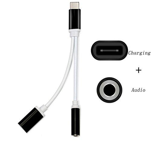 aktrend Typ C USB C auf 3,5 mm Audio Jack Adapter, Type C Kopfhörers Adapter für Huawei Mate 10 Pro, Xiaomi 6, LeTV Le 2, Le 2 Pro, Le Max 2, Le Pro 3, Le S3, Smartisan Pro und Nubia Z17 (Mini-jack Audio)