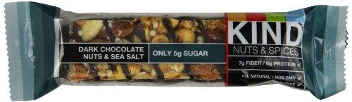 Free Sample of Kind Dark Chocolate Nuts and Sea Salt bar, 1.4 Ounce