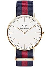 Daniel Wellington Herren-Armbanduhr Analog Quarz One Size, weiß, blau/rot