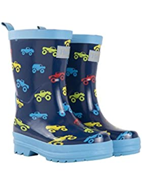 Hatley Rain Boot, Botas de Agua para Chico, Azul (Colourful Monster Trucks 400), 24 EU