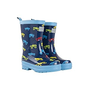 Hatley Rain Boot, Botas de Agua para Chico, Azul (Colourful Monster Trucks 400), 30 EU