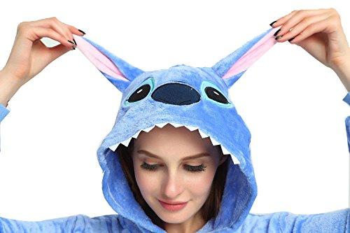 Cosplay WOWcosplay Tutina Anime giapponese, motivo: Pikachu Kigurumi Pajamas-Pigiama Pokemon-Felpa con cappuccio Stitch