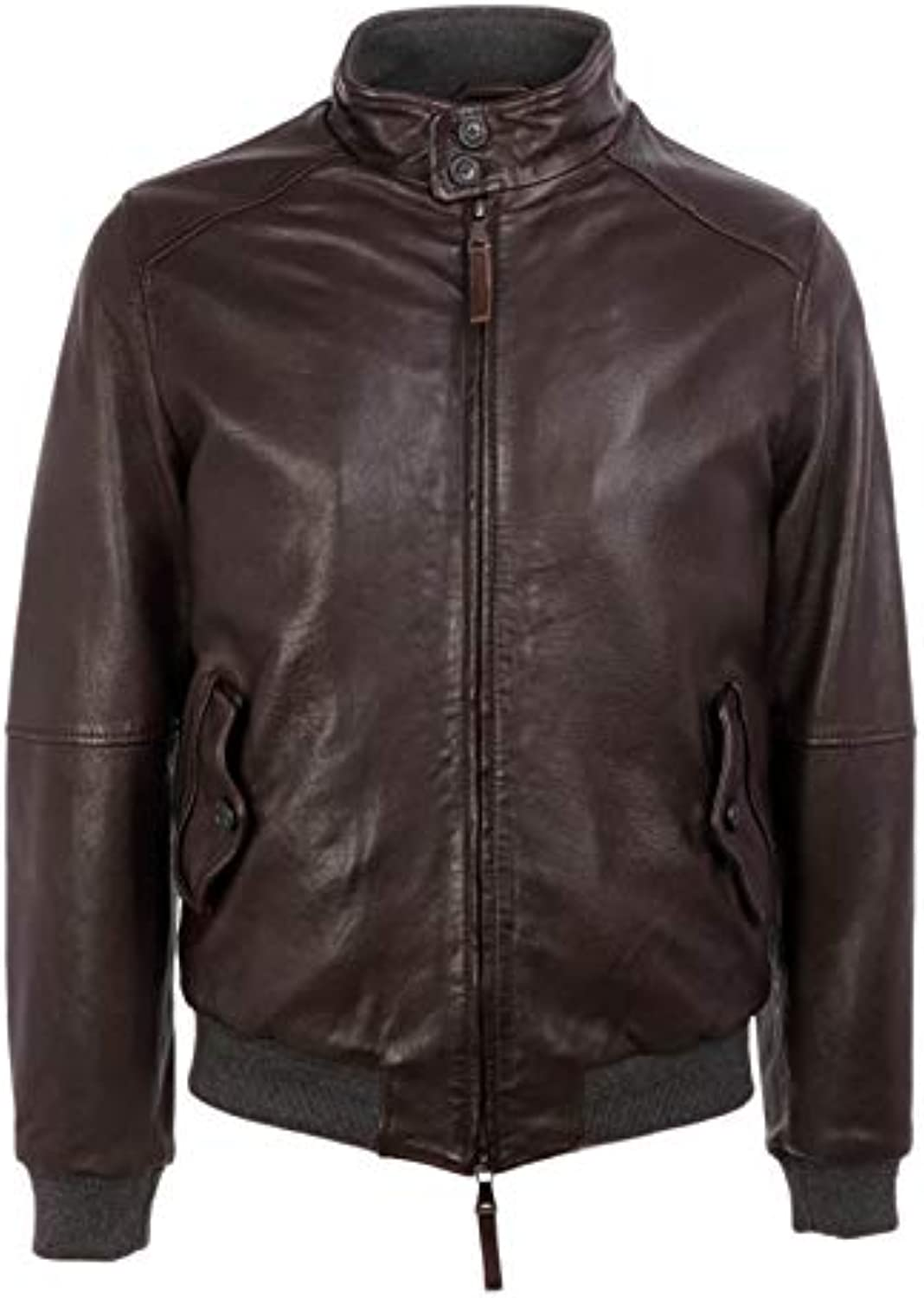 THE JACK Outerwear LEATHERS Giacca Outerwear JACK Uomo EMBO06 Pelle  Marronee 1879ec 2d3242e5996