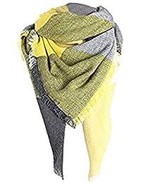 MRULIC Echarpes foulards femme écharpe étole Fille châle Foulard, Pashmina  Echarpe a Carreaux Laine Mode 5d6deb2eba4