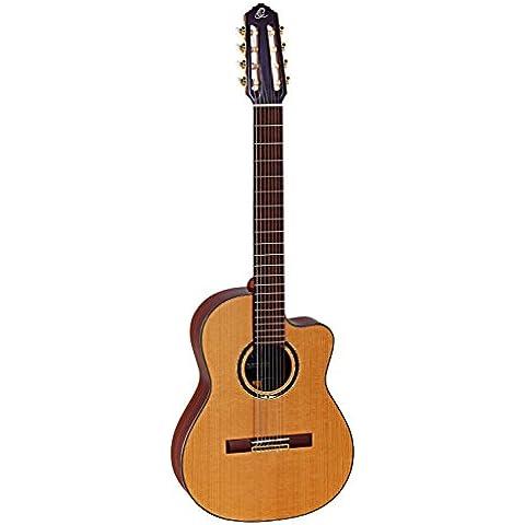 Ortega OCTASUITE The Private Room - Chitarra da concerto a 8 corde, a spalla mancante, con pick-up, in legno massiccio, con gigbag e tracolla - 8 String Pickup