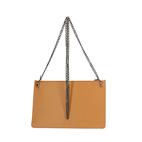 Chicca Borse Borsa a tracolla in pelle 28 x 18.5 x 2 100% Genuine Leather Cuoio