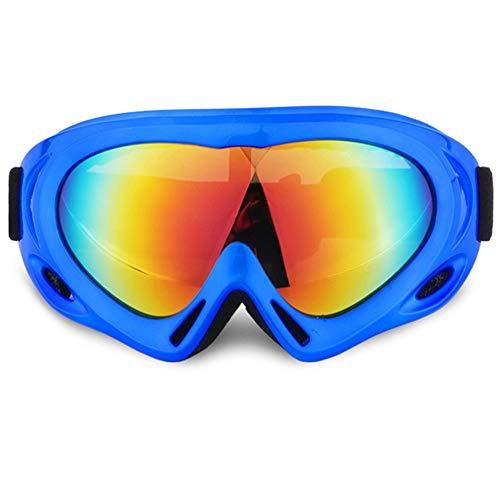 Skibrille,Schneebrille mit Wind- und Staubschutz für Kinder,Jungen&Mädchen, Männer & Frauen, geeignete Blendschutzgläser zum Reiten, Motorradfahren, Rodeln, Schneeballschlachten (2er (Mehrfarbig/Grau)
