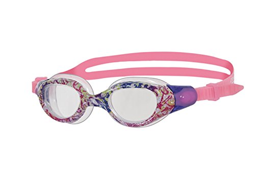 Zoggs Kinder Little Comet Schwimmbrille, Glitter/Pink/Clear, One Size