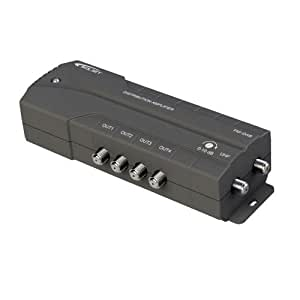 Wolsey TV Booster 4 Way Distribution Signal Amplifier