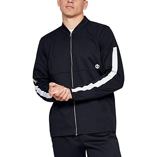 Half Zip Knit Top (Under Armour Herren Athlete Recovery Knit Warm Up Top Oberteil, Schwarz, L)