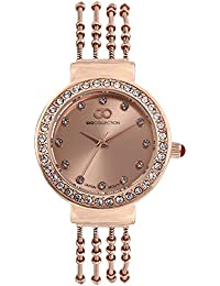 Inara By Gio Collection Analog Rose Gold Dial Women Watch- G2101-55