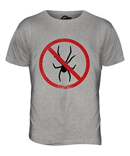 CandyMix Arachnophobie Herren T Shirt Grau Meliert
