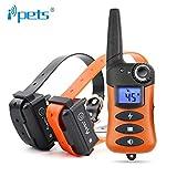 iPets FilAnimal Pet620 Original, 300 Metros para 1 o 2 Perros a la Vez 100% Sumergible - 3 Modos, Manejo Sencillo, ergonómico y pequeño. Pantalla LCD Retroiluminada 620 (+ con 2 Collares receptores)