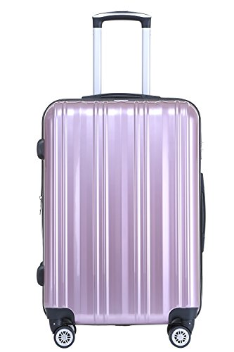 Münicase TSA-Schloß Koffer Reisekoffer Trolley Kofferset (Rosa, Kleiner Koffer (ca.54cm))
