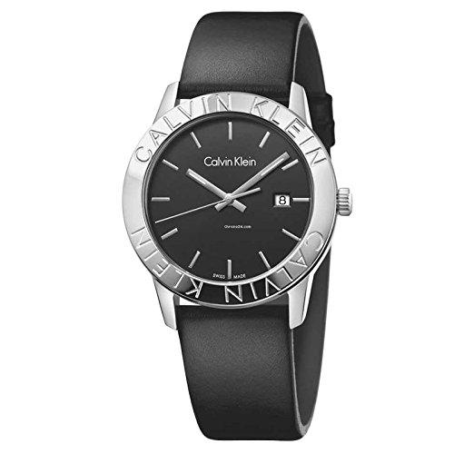 Calvin Klein steady K7Q211C1 Montre-Bracelet pour hommes Fabriqué en Suisse
