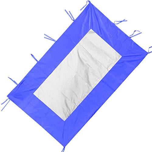 P Prettyia Zelt Seitenwand Seitenplanen Sonnenschutz - Blau B 200x300cm
