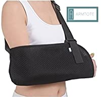ARMTOTE Airflow Breathable Arm Sling. Soft adjustable support with waist strap. Breathable mesh, lightweight fabric. Adjustable sling will immobilize and stablize the injured arm.