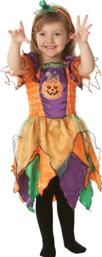 Kürbis Hexe Kostüm für Kinder Halloween Verkleidung Medium ()