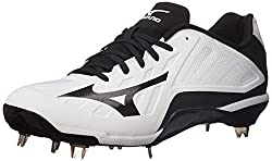 Mizuno Mens Heist IQ Baseball Cleat White / Black 10 D(M) US