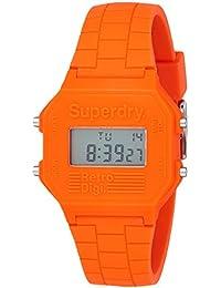 Superdry Retro Digi Digital Orange Dial Men's Watch - SYG201O