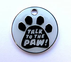 Just Pets Enamel Dog Tag Gift, Comical Design, Personalised, Engraved Free from Phoenix Engraving & Gifts