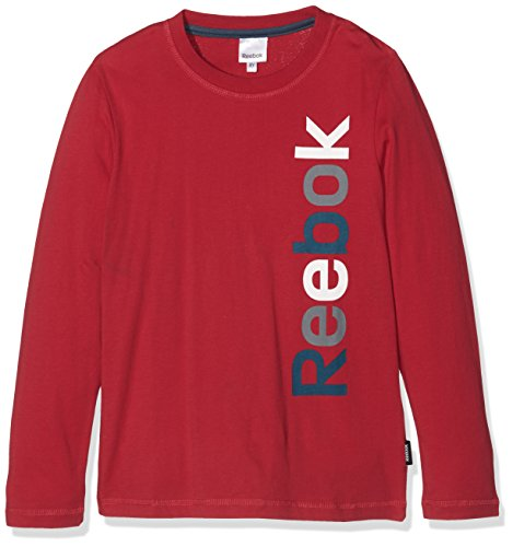 Reebok Kinder T-Shirt TEE Shirt Sweatshirt Longsleeve rot Gr. 176 (Reebok Rot Shirt)
