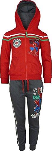 Bambini e ragazzi marvel spiderman tuta da ginnastica / jogging set rosso-6 anni / 116 cm