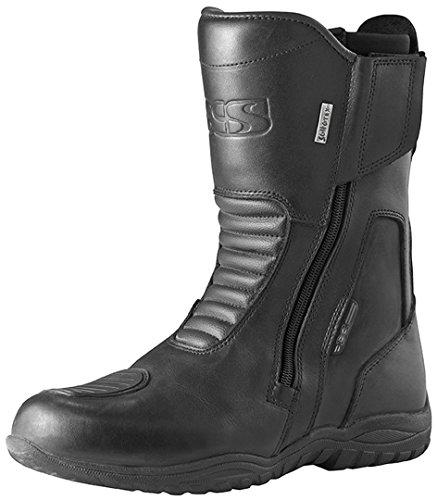 IXS NORDIN - Stivali da moto da uomo, in pelle, colore: nero