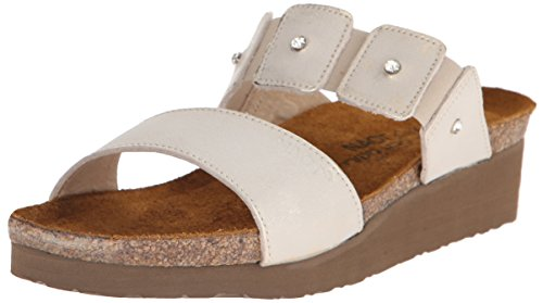 Naot Womens Ashley Leather Sandals White