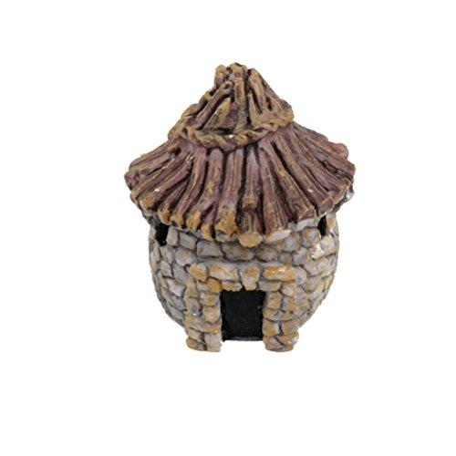 DIGIFLEX Ornament für Aquarien, Idyllisches Reetdachhaus